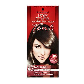 Schwarzkopf Poly Color Tint 43 Natural Dark Brown
