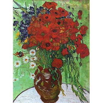 Vincent Van Gogh - Red Poppies and Daisies, 1890 Poster Print Giclee