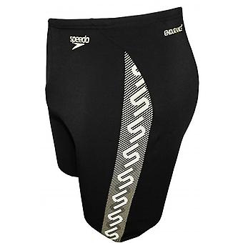 Speedo Endurance+ Monogram Jammer, Black/White