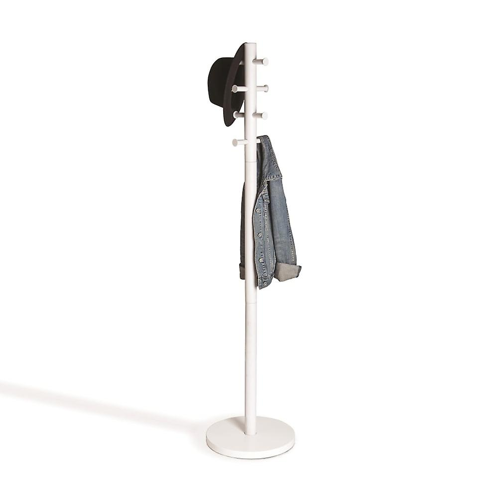 Umbra Pillar Coat Rack - blanc bois