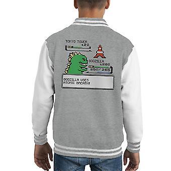 Pokemon Godzilla I Choose You Kid's Varsity Jacket