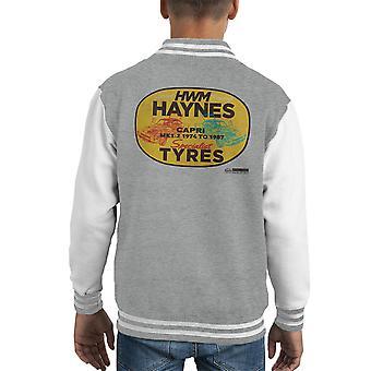 Haynes varumärke HWM Ford Capri Specialist däck Kid's Varsity jacka