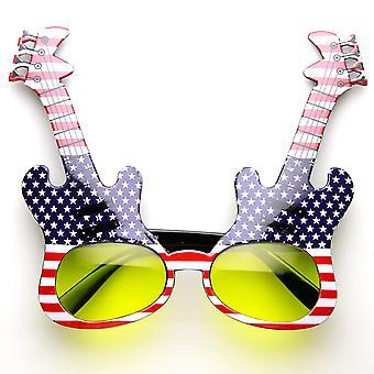 Elektrische gitaar vorm Rock sterren Rock Party musicus nieuwigheid partij zonnebril