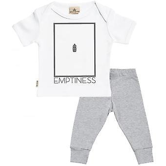 Verwöhnte faule leere Baby T-Shirt & Baby Jersey Hose Outfit-Set