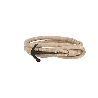 7details premium anchor bracelet for men and women in Taupe gray made in Spain