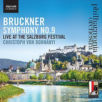 Bruckner / Philharmonia Orchestra / Dohnanyi - symfoni No. 9 Live på Salzburg Festival [CD] USA import