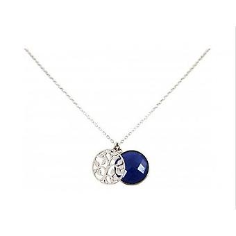 Ladies - - pendant - tree of life necklace - 925 Silver - sapphire - blue - 45 cm