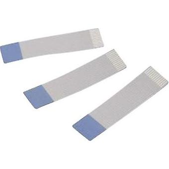 Ribbon cable Contact spacing: 1 mm 10 x 0.00099 mm² Grey, Blue