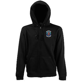 USMC Marines HMH-361 Flying Tigers Embroidered Logo - Zipped Hoodie Jacket