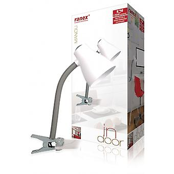 Ranex table lamp with clamp-grey