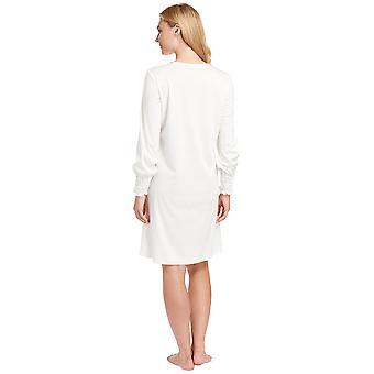 Feraud 3883038-10044 Frauen Champagner weiße Baumwolle Nacht Kleid Loungewear Nachthemd