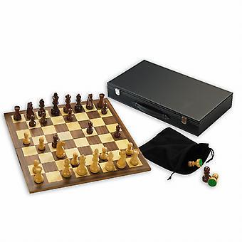 El conjunto del ajedrez madera Gibsons con 3.5