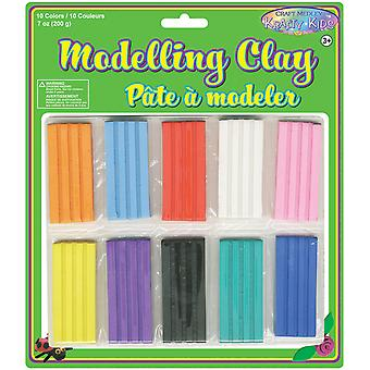 Modeling Clay 200Grams Pkg 10 couleurs Pkg Kc512