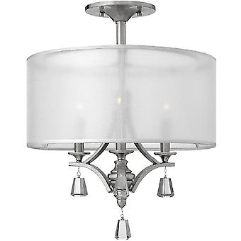 HK/MIME/4P Mime 4 Light Brushed Nickel Ceiling Pendant with Square Cry
