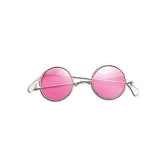 Lennon Glasses. Pink/Gold Frame
