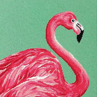 Pink Flamingo Needlepoing Kit-14