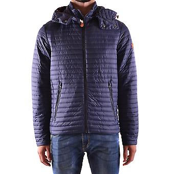 Save the duck men's MCBI269048O Blau polyester Quilted Jacket