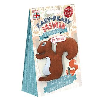 Nutmeg the Squirrel Easy Peasy Sewing Kit