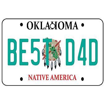 Oklahoma - Best Dad License Plate Car Air Freshener