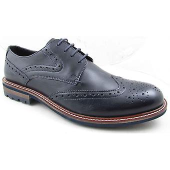 Mens Leather Welted Sole Smart Lace Up Brogues Formal Dress Shoes