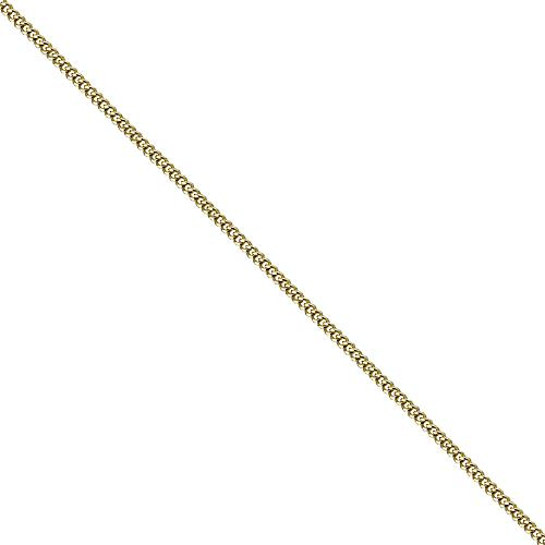 18ct Gold 1mm wide bright cut Curb Pendant Chain 16 inches Only Suitable for Children