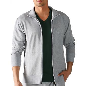 Mey 23593-620 Men's Enjoy Grey Solid Colour Pajama Pyjama Top