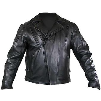 Malibu Mens Leather Biker Jacket