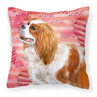 Carolines Treasures  BB9750PW1414 Cavalier Spaniel Love Fabric Decorative Pillow