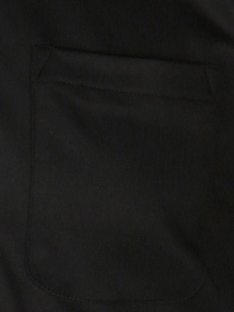 Classic fit knitted jersey polo – black