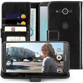 Sony Xperia XZ2 compacte echte ID portemonnee - Black