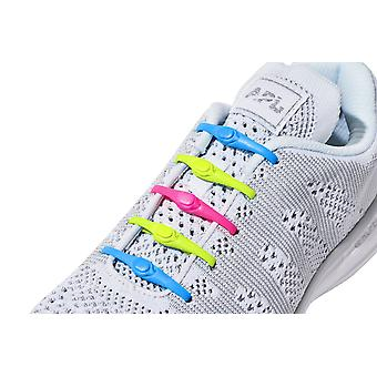 1 Pack of 14 Hickies 2.0 Replacement Laces for fast slip-on ~ Neon Multi