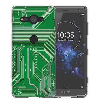 Sony Xperia XZ2 kompakte Platine TPU Gel Fall - grün