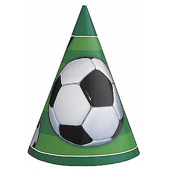 SALE -  8 Party Hats - Football Design   Kids Birthday Party Hats