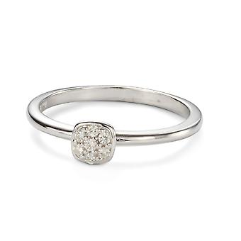 Forever Classic 1.4mm Moissanite Cushion Pave Ring