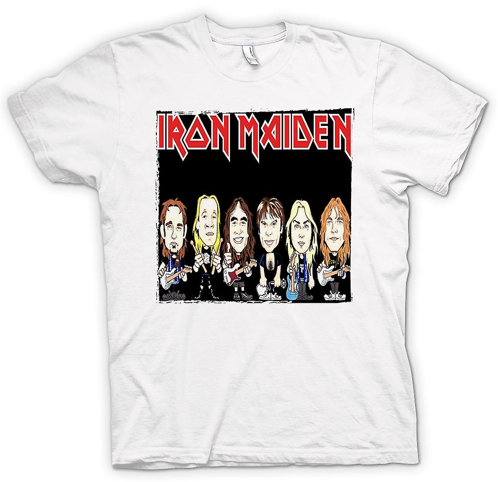 Womens T-shirt - Iron Maiden - Cartoon Band