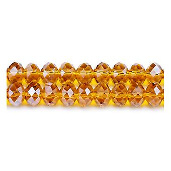 Strand 70+  Brown Czech Crystal Glass 8 x 10mm Faceted Rondelle Beads GC3536-4