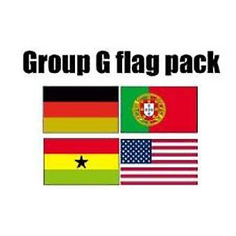 GROEP G voetbal World Cup 2014 vlag Pack (5 ft x 3 ft)