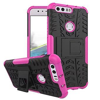 Hybrid fall 2 bit SWL utomhus rosa för Huawei honor 8 Pocket case skal skydd
