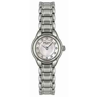 Rotary Womens Stone Set Stainless Steel LB02601/07 Watch