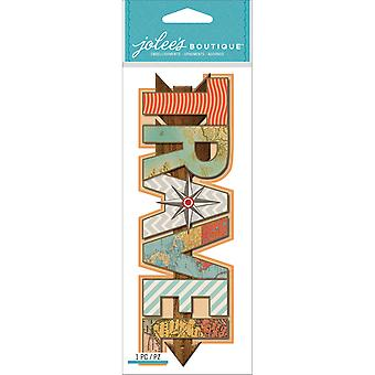 Jolee's Boutique Title Waves Dimensional Stickers-Travel