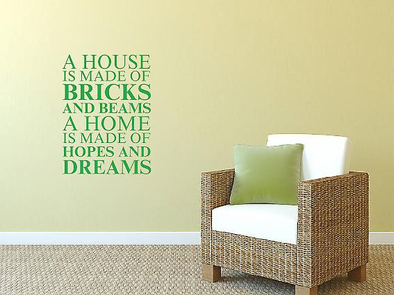 A house is made of Wall Art Sticker -  Green