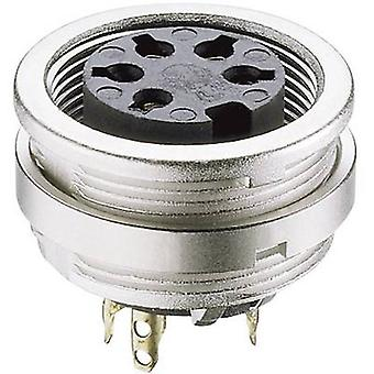 DIN connector Socket, vertical vertical Number of pins: 4 Silver Lumberg KFV 40 1 pc(s)