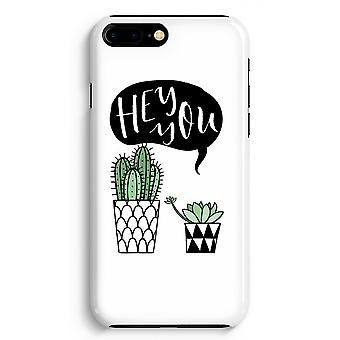 iPhone 8 Plus Full Print Case (Glossy) - Hey you cactus