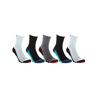 Globe White-Navy-Black Evan Pack of 5 Socks
