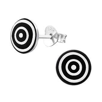 Раунд - 925 стерлингового серебра красочные уха шпильки - W19704X