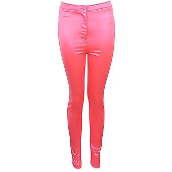 Senhoras brilhante trecho molhado olhar caneleiras discoteca Skinny Fit calças Jeans feminina