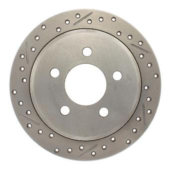 StopTech 227.67032R Select Sport Drilled and Slotted Brake Rotor; Rear Right