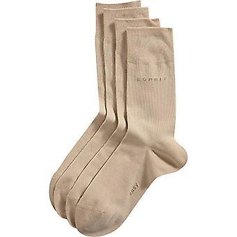 Esprit Basic Soft Cuff 2 Pack Socks - Cream
