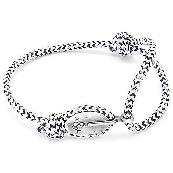 Anchor and Crew London Silver and Rope Bracelet - White Noir