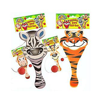 Wild Animal Wooden Biff Bat Party Bag Filler for Jungle Parties
